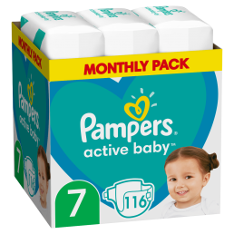 PAMPERS ACTIVE BABY ΜΕΓ7 (15+kg) 116 MSB