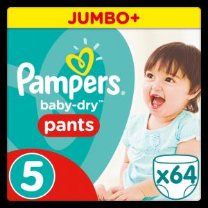 Πάνες Pampers Baby Dry Pants Junior Νo 5 (12-18kg, 64 τεμ)
