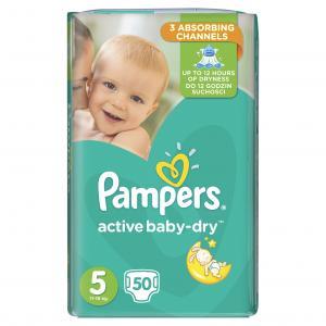 Pampers Active Baby Dry Μέγεθος 5 (11-18kg), 50 Πάνες