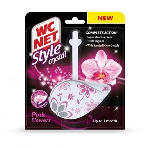 NET WC STYLE CRYSTAL RIM BLOCK PINK FLOWERS