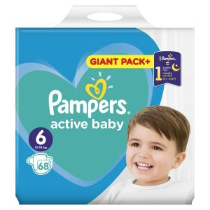 PAMPERS ACTIVE BABY GIANT ΜΕΓ 6 (13-18 kg), 68 ΠΑΝΕΣ