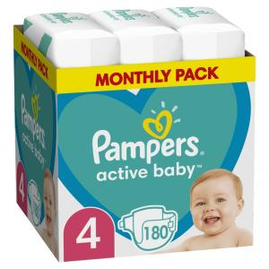 PAMPERS ACTIVE BABY ΜΕΓ 4 (9-14kg) 180 MSB