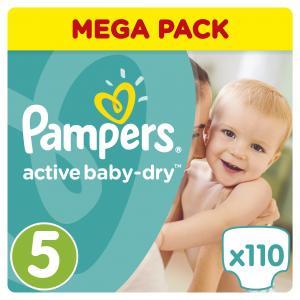 Pampers Active Baby Dry Μέγεθος 5 (11-18kg), 110 Πάνες