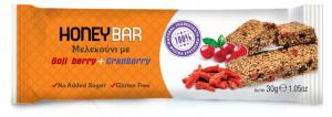 Honey Bar Μελεκούνι με Goji Berry & Cranberry 30gr