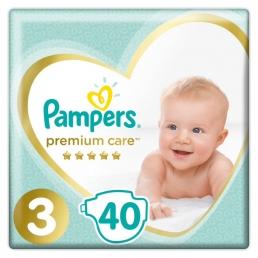 Pampers Premium Care Μέγεθος 3 (5-9kg), 40 Πάνες