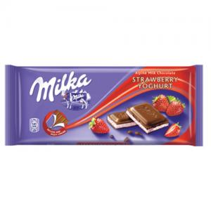 MILKA STRAWBERRY YOGHURT 100gr