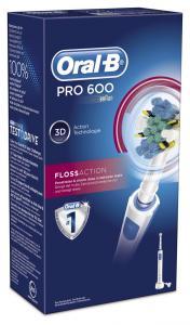 Oral-B PRO 600 FlossAction - Επαναφορτιζόμενη Ηλεκτρική Οδοντόβουρτσα