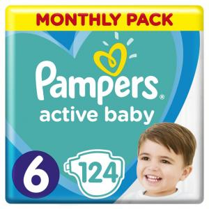 PAMPERS ACTIVE BABY ΜΕΓ6 1X124 MSB
