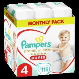 Πάνες Pampers Premium Care Pants Monthly Pack Νο4 (9-15kg) 116τεμ