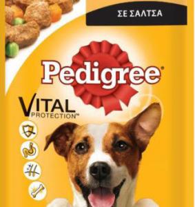 PEDIGREE POUCH ADLT Κοτόπουλο & Λαχανικά Σάλτσα 100gr